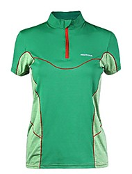 baratos -Mulheres Camiseta de Trilha Ao ar livre Secagem Rápida Montanhismo Sertão Fitness Respirabilidade Camiseta Cursor Único Exercicio Exterior