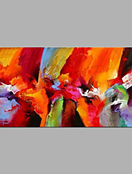 Недорогие -Ручная роспись Абстракция Горизонтальная, Modern холст Hang-роспись маслом Украшение дома 1 панель