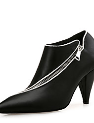 cheap -Women's Shoes Synthetic Microfiber PU Fall Winter Fashion Boots Boots Cone Heel Pointed Toe Booties/Ankle Boots for Office & Career Party
