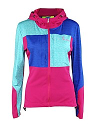 cheap -Women's Patchwork Hoodie - Yellow, Fuchsia, Blue Sports Spandex Hoodie / Tracksuit / Ultraviolet Resistant Jacket Long Sleeve Activewear