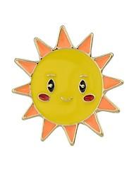 Недорогие -Жен. Броши - Загар и защита от солнца, Облака Классический, Мода Брошь Белый / Желтый Назначение Повседневные / Свидание