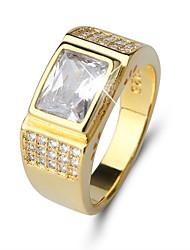 preiswerte -Herrn Kubikzirkonia / Strass Zirkon Bandring - Kreisform Klassisch / Retro / Elegant Gold Ring Für Hochzeit / Alltag / Zeremonie
