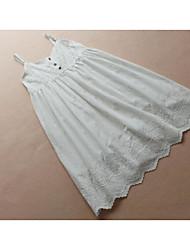 Недорогие -Жен. Классический А-силуэт Платье - Однотонный V-образный вырез Выше колена