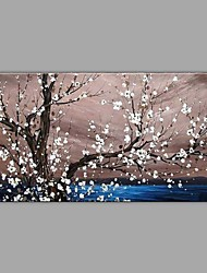 cheap -Oil Painting Hand Painted - Landscape Floral / Botanical Comtemporary Modern Canvas