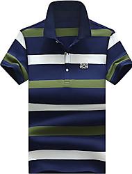 cheap -Men's Cotton T-shirt - Striped Stand