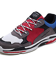 baratos -Homens sapatos Couro Ecológico Tule Primavera Outono Conforto Tênis Corrida para Casual Preto Bege Cinzento