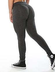 baratos -Mulheres Calças de Yoga - Preto, Cinzento Escuro, Cinzento Claro Esportes Meia-calça Roupas Esportivas Treinador, Ioga, Secagem Rápida Com Stretch
