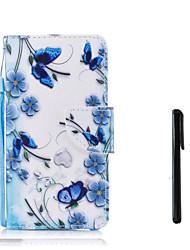 Недорогие -Кейс для Назначение Huawei P10 Plus / P10 Lite Кошелек / Бумажник для карт / Флип Чехол Бабочка / Цветы Твердый Кожа PU для P10 Plus / P10 Lite / P10