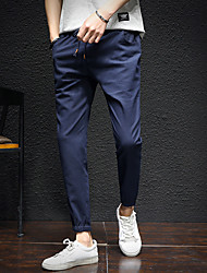 cheap -Men's Cotton Linen Harem Pants - Solid Colored