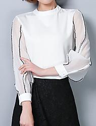 cheap -Women's Work Business Street chic Blouse - Striped, Basic
