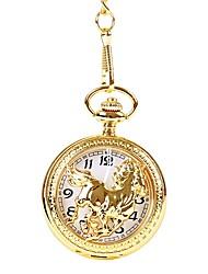Недорогие -Муж. Для пары Повседневные часы Карманные часы Кварцевый Повседневные часы Cool сплав Группа Аналоговый Винтаж На каждый день Золотистый - Золотой