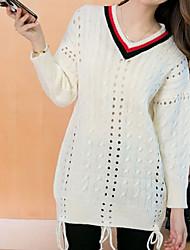 povoljno -Žene Ležerne prilike Ulični šik Pullover Jednobojni