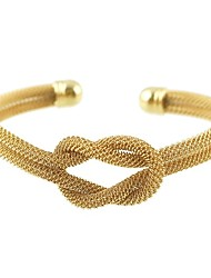 cheap -Women's Double Twine Bangles / Cuff Bracelet - Elegant Bracelet Gold / Silver For Gift / Daily