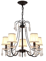 cheap -LightMyself™ 5-Light Chandelier / Pendant Light Ambient Light - Crystal, 110-120V / 220-240V Bulb Not Included / 10-15㎡ / E12 / E14