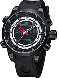 cheap -WEIDE Men's Sport Watch Japanese Digital 30 m Water Resistant / Water Proof Calendar / date / day Dual Time Zones Rubber Band Analog-Digital Luxury Black - Black / Large Dial