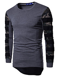 cheap -Men's Sports Active Cotton Slim T-shirt - Camouflage Round Neck