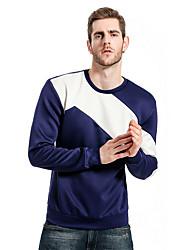 Недорогие -мужской длинный рукав футболка - цветной блок