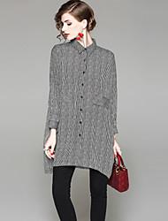 abordables -Mujer Básico Camisa A Rayas