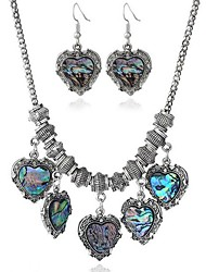 cheap -Women's Cubic Zirconia Heart Jewelry Set 1 Necklace / Earrings - Vintage / Fashion Silver Drop Earrings / Pendant Necklace For Daily