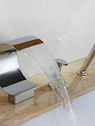 abordables -Robinet de baignoire - Moderne Chrome Diffusion large Soupape céramique