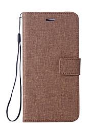 abordables -Coque Pour Nokia Nokia 8 Nokia 6 Porte Carte Portefeuille Avec Support Clapet Coque Intégrale Couleur unie Dur faux cuir pour Nokia 8