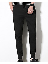 cheap -Men's Simple Skinny Pants - Solid Colored