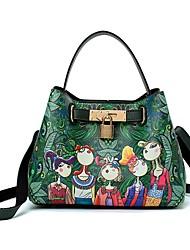 cheap -Women's Bags PU Shoulder Bag Zipper for Casual Green
