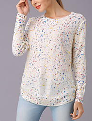 cheap -Women's Sophisticated Pullover - Polka Dot