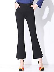 abordables -Mujer Simple Ajustado a la Bota Pantalones - Un Color