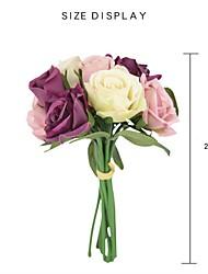 Недорогие -Искусственные Цветы 9 Филиал Деревня Свадебные цветы Розы Букеты на стол