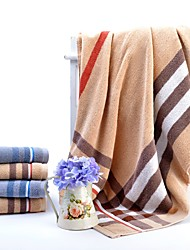 cheap -Superior Quality Bath Towel / Bath Towel Set, Plaid / Checkered 100% Cotton Bathroom 2 pcs