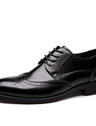 Недорогие -Муж. обувь Лакированная кожа Весна / Осень Удобная обувь Туфли на шнуровке Черный / Верблюжий / Платья