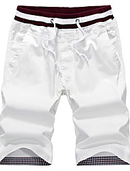 cheap -Men's Street chic Plus Size Cotton Slim Shorts Chinos Pants - Solid Colored Print Low Waist