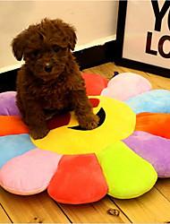 baratos -Gatos Cachorro Camas Animais de Estimação Capachos e Alcochoadas Multi-Côr Flor Portátil Dobrável Respirável Arco-Íris Para animais de