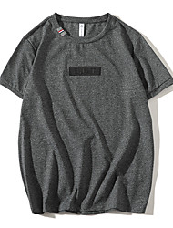 Homens Camiseta Básico Moda de Rua Sólido Letra