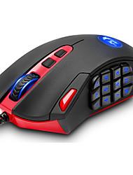 abordables -REDRAGON M901 PC Câblé Souris ergonomique Jeux Dépoli Poids réglable DPI réglable Programmable 16400