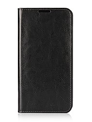 cheap -Case For LG V30 Card Holder with Stand Flip Full Body Cases Solid Color Hard Genuine Leather for LG V30