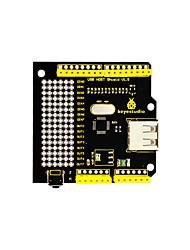 Недорогие -keyestudio usb host v1.5 защита, совместимая с поддержкой google android adk uno mega для arduino