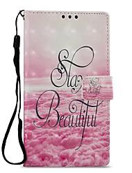 Недорогие -Кейс для Назначение Sony Xperia XZ1 Xperia L2 Бумажник для карт Кошелек со стендом Флип Магнитный Чехол Пейзаж Твердый Кожа PU для Xperia