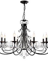 cheap -LightMyself™ 8-Light Chandelier Ambient Light - Crystal, 110-120V / 220-240V Bulb Not Included / 15-20㎡ / E12 / E14