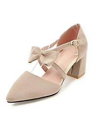 女性用 靴 レザーレット 春 夏 コンフォートシューズ ヒール チャンキーヒール ポインテッドトゥ のために カジュアル アウトドア ブラック ベージュ イエロー レッド