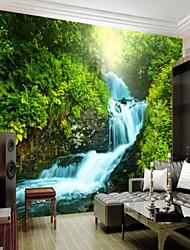 baratos -Árvores/Folhas Art Deco 3D Decoração para casa Clássico Vintage Revestimento de paredes, Tela de pintura Material adesivo necessário Mural