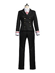 cheap -Inspired by Cardcaptor Sakura Sakura Anime Cosplay Costumes Cosplay Suits Cosplay Tops / Bottoms Other Long Sleeves Coat Shirt Pants Tie