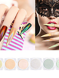 cheap -6pcs Nail Glitter Glitter Powder Powder Sparkle & Shine Nail Art Tips Nail Art Design