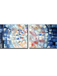 cheap -STYLEDECOR Modern Hand Painted Abstract Painting of Two Pieces Canvas Oil Painting for Wall Art