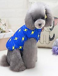baratos -Cachorros Gatos Moletom Tecido Roupas para Cães Outro Azul Escuro Azul Tecido Alcochoado Tecido de Algodão Lã Polar Ocasiões Especiais
