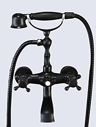 cheap -Bathtub Faucet - Traditional Oil-rubbed Bronze Tub And Shower Ceramic Valve