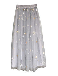 cheap -Women's A Line Skirts - Solid, Print Embroidered