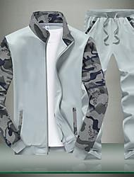 cheap -Men's Long Sleeve Sweatshirt - Geometric Stand