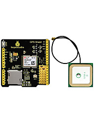abordables -keyestudio gps shield avec antenne fente sd pour arduino uno r3